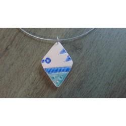 Ceramic blue diamond turquoise