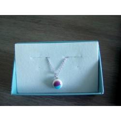 Glass necklace fusing handmade vendée