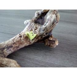 Boucles d'oreilles faïence triangle vert