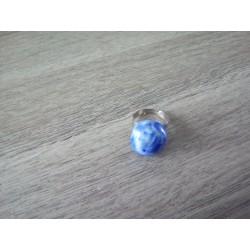 Bague bleu foncé céramique créatrice vendée
