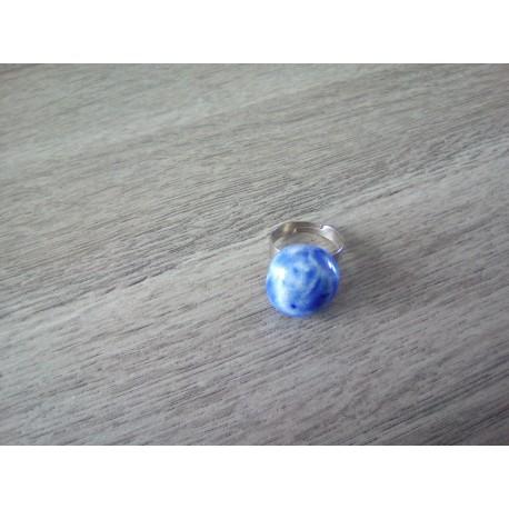 Bague bleu céramique créatrice vendée