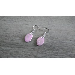 Purple ceramic earrings