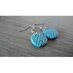 Turquoise ceramic earrings