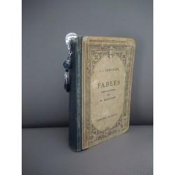 Marque-page noir en céramique, tissu et métal argenté