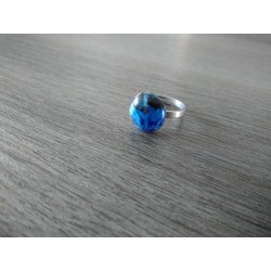Julie and Co Creations Blue Fusing Glass Ring