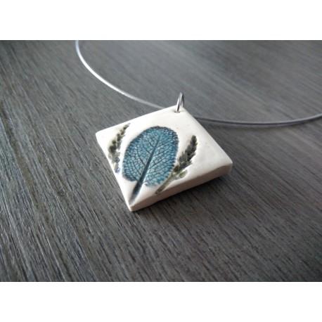 Broche ovales nature en faïence artisanale sur acier inoxydable made in france vendée