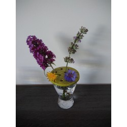 Pique flowers for small pot, glass or glass. Craft creation in enamelled earthenware