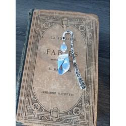 Ceramic blue bookmark and liberty ribbon